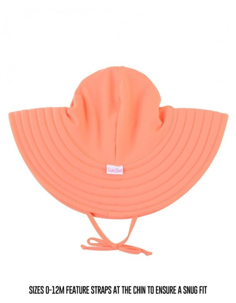 RuffleButts Coral Swim Hat 0-12 months