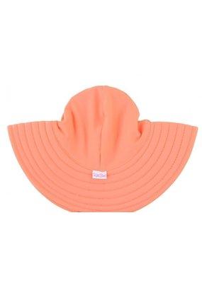 RuffleButts Coral Swim Hat 12m-2T