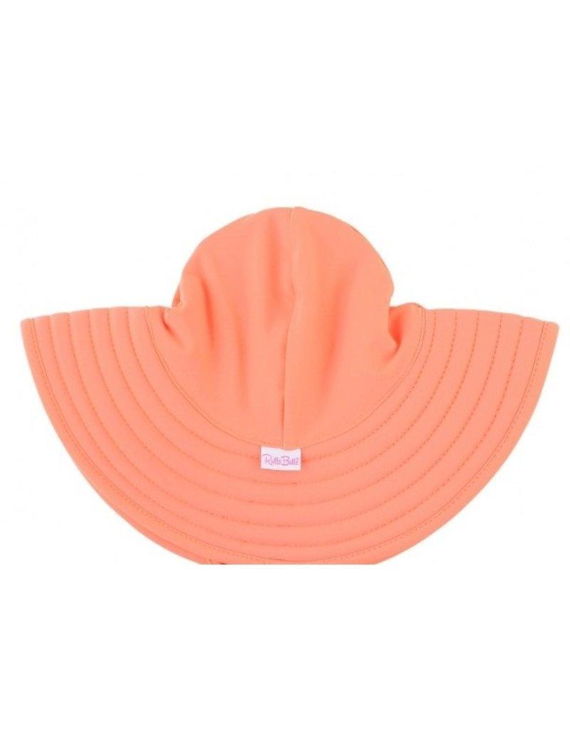 RuffleButts Coral Swim Hat  3T-5