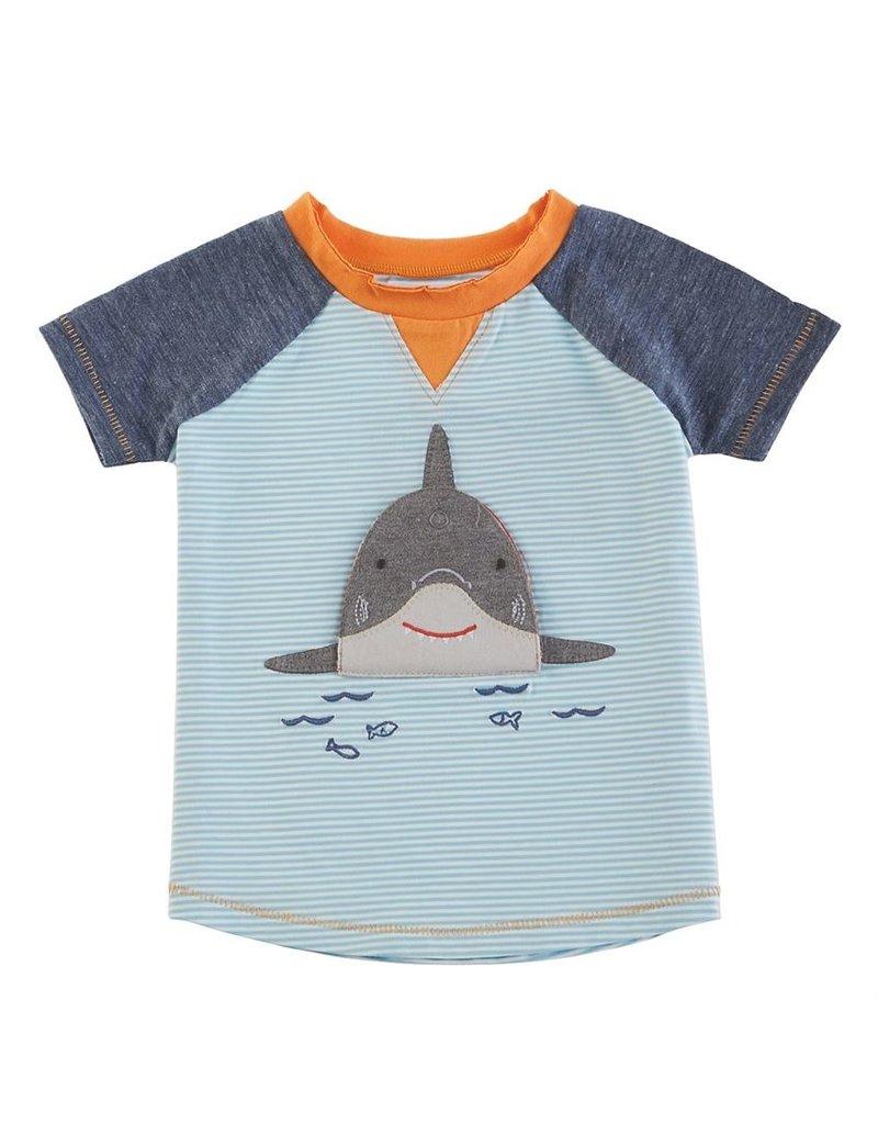 MudPie Shark Tee Small 12-18 months