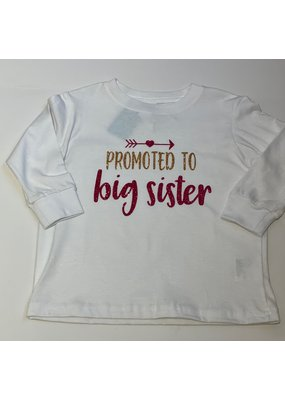 Tracy's Treasures Promoted To Big Sister Shirt Long Sleeve