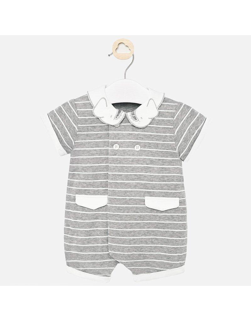 Gray Knit  Romper