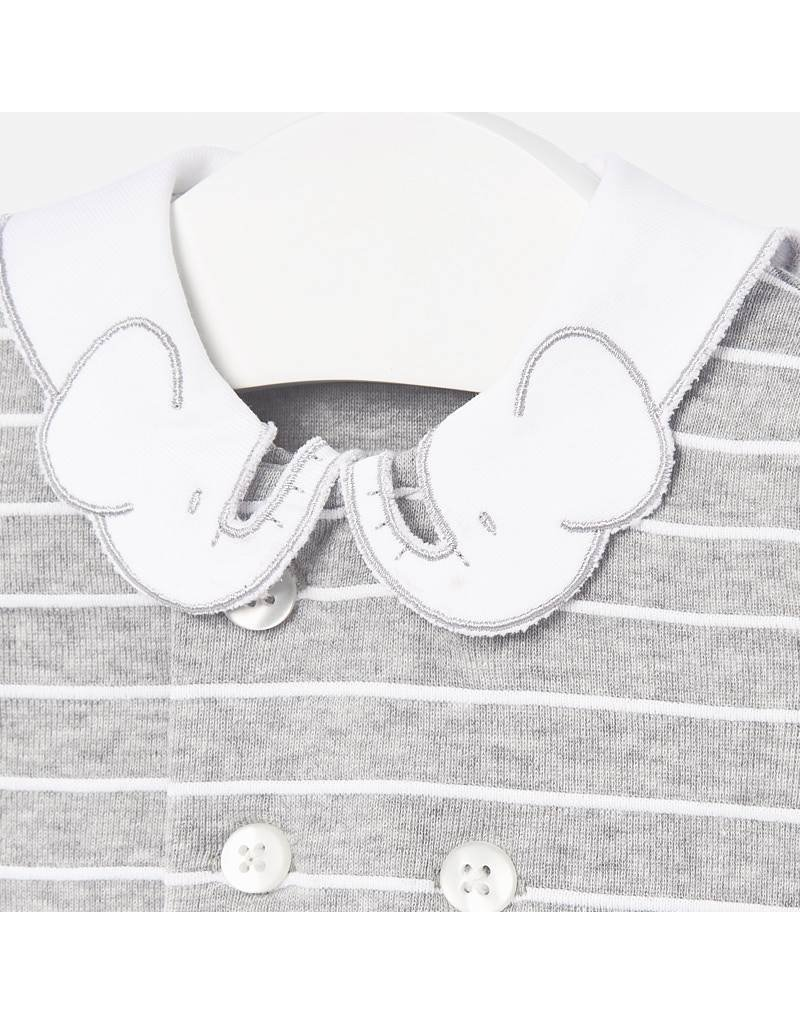 Mayoral Gray Knit  Romper
