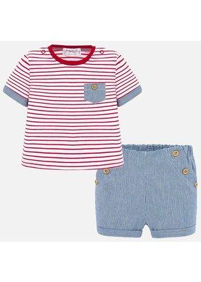 Red Stripe Shirt & Blue Stripe Short