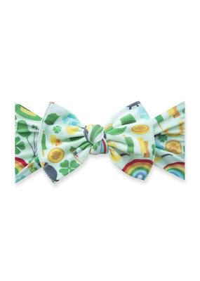 Baby Bling Spring Printed Knot Baby Bling Headband Paddy's Party