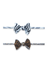 Baby Bling 2 Pack Mini Print Skinny Headband Wild Child
