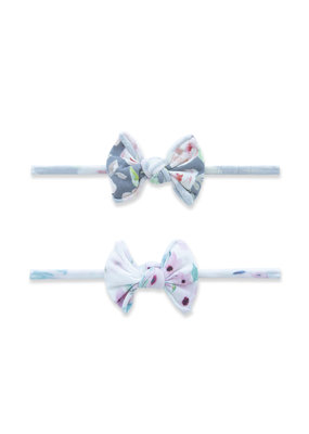 Baby Bling 2 Pack Mini Print Skinny Headband Soft Floral