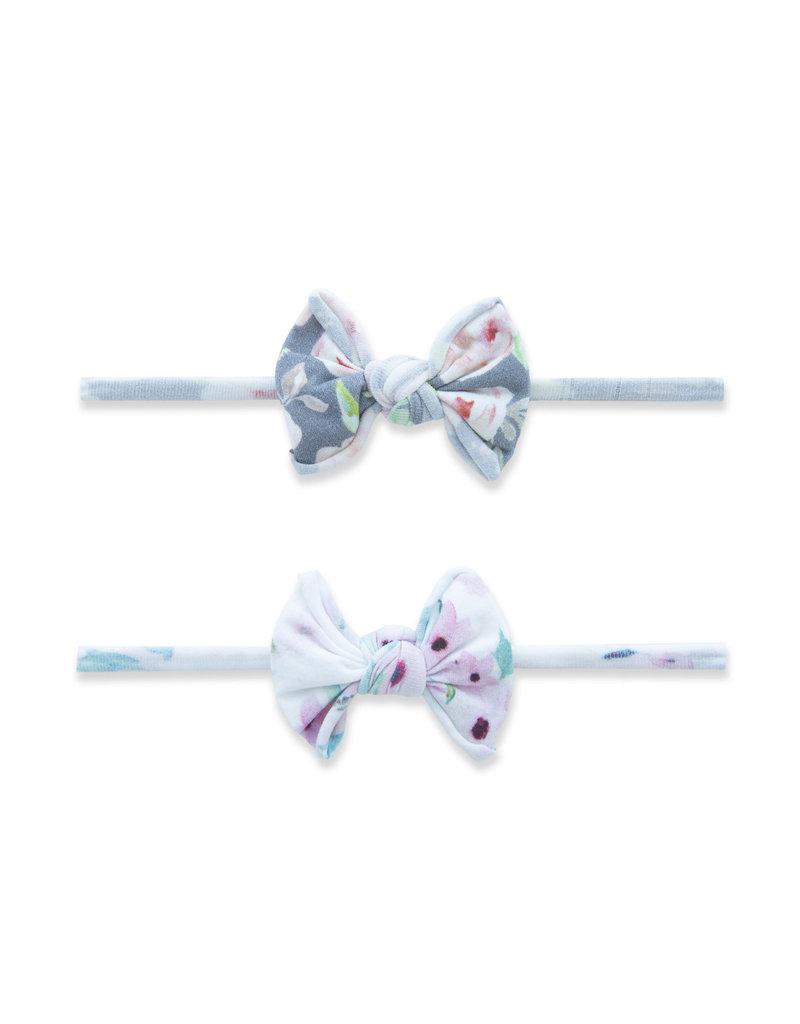 Baby Bling 2 Pack Mini Print Skinny Spring Baby Bling Headband  Soft Floral