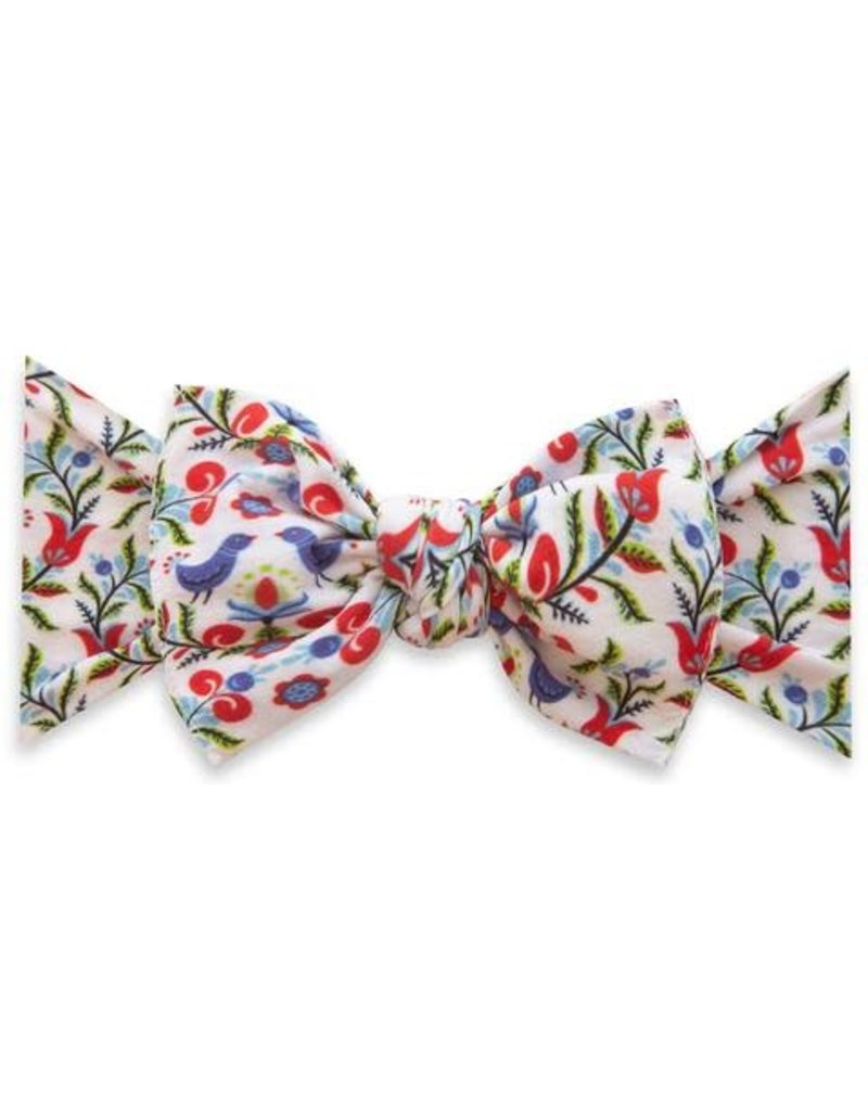Baby Bling Printed Knot Blue Bird