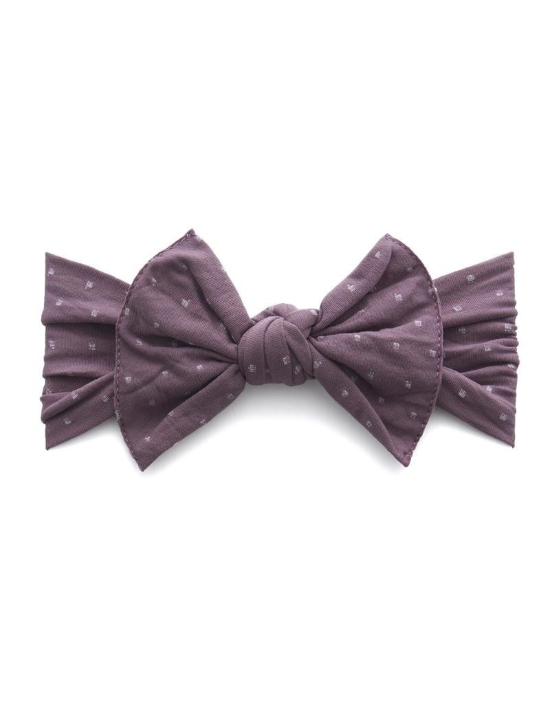 Baby Bling Patterned Knot Lilac Dot