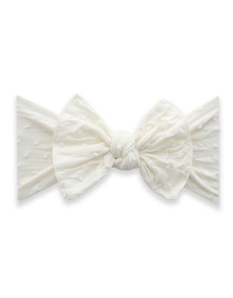 Baby Bling Patterned Knot Shabby Ivory Dot