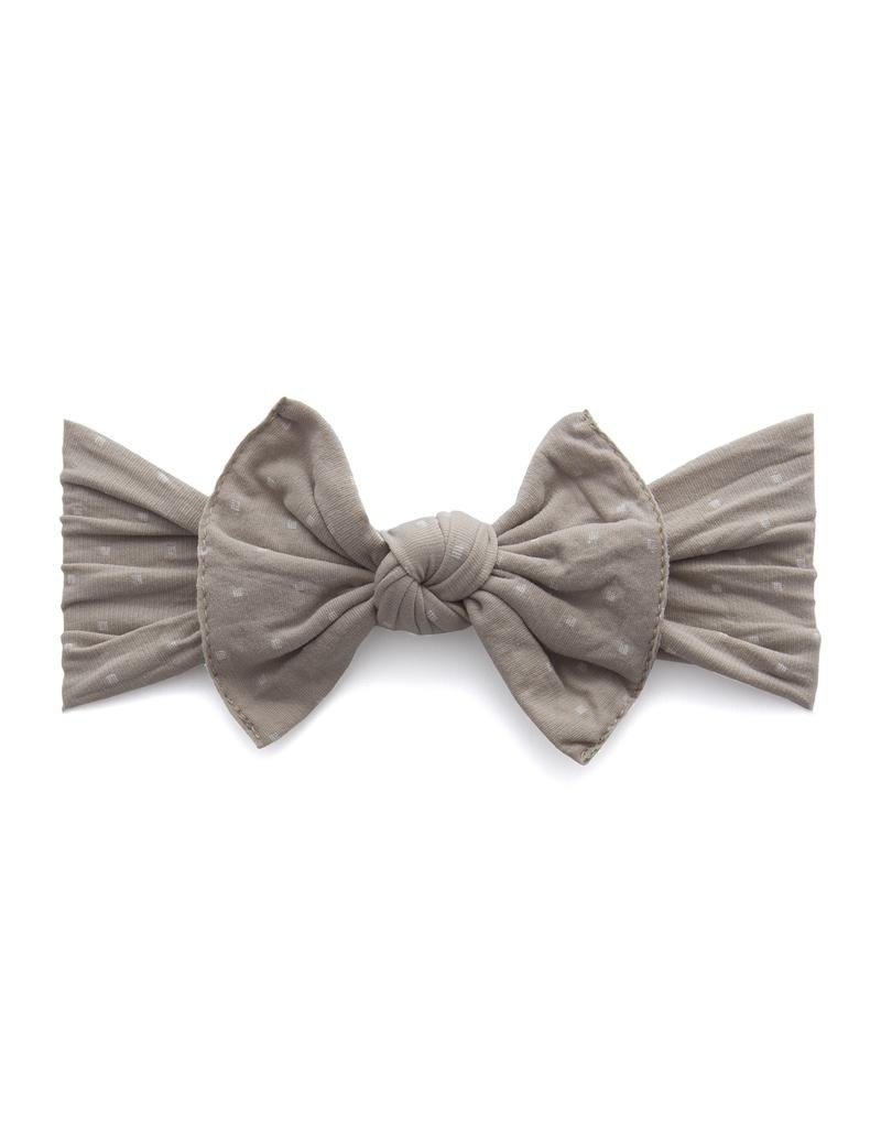 Baby Bling Patterned Knot Taupe Dot