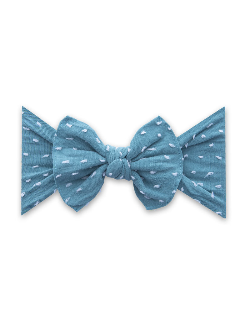 Patterned Shabby Knot Teal Dot