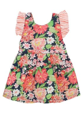 RuffleButts Sunset Garden Pinafore Dress Infant