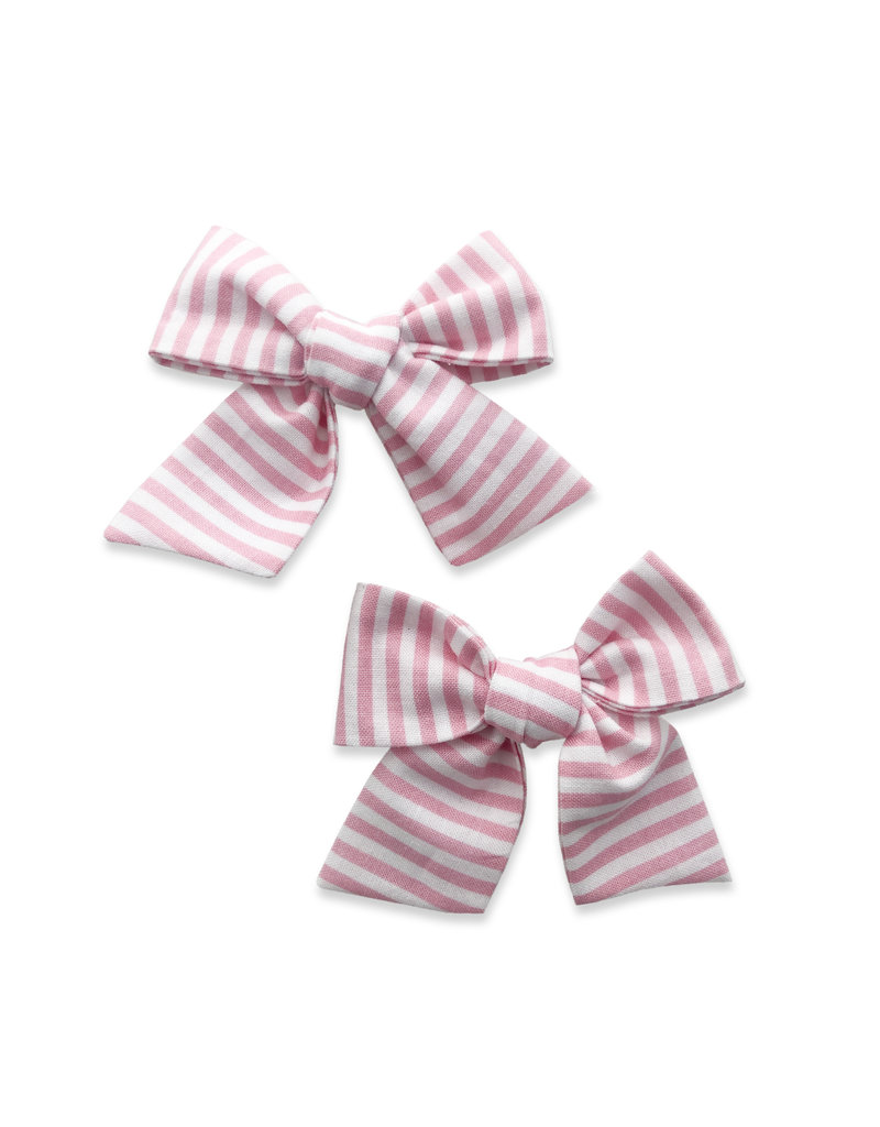 Baby Bling 2 Pack Big Cotton Clips Bubblegum Stripe