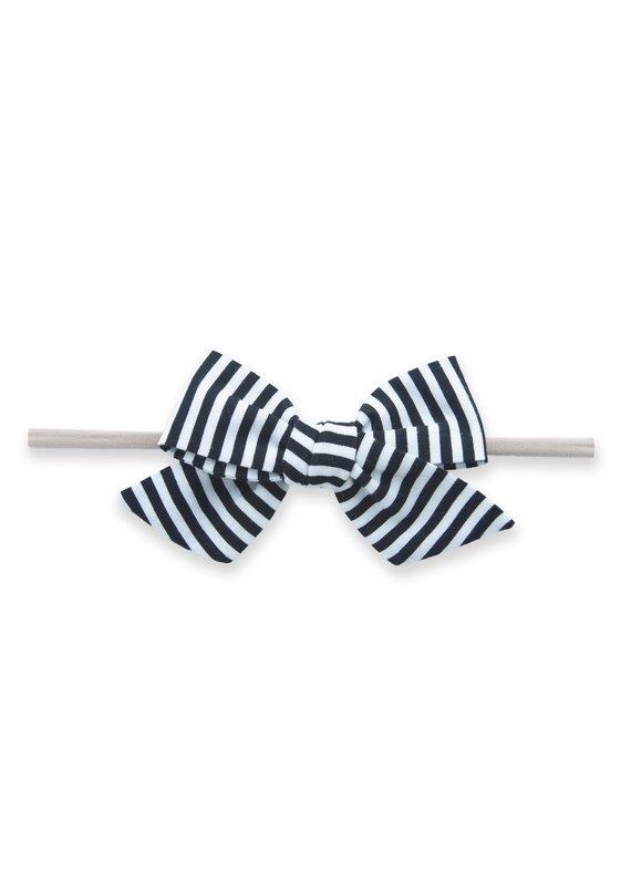Big Cotton Bow Skinny Black Stripe