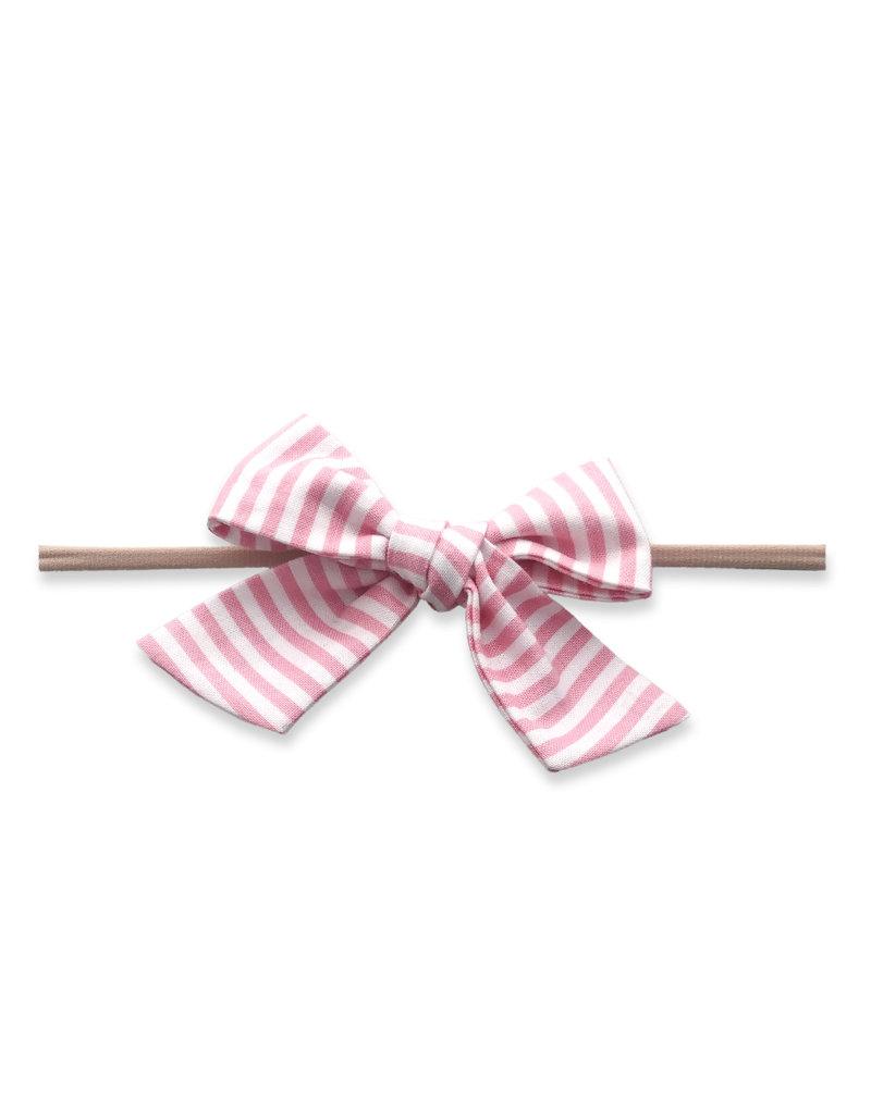 Baby Bling Big Cotton Bow Skinny Bubblegum Stripe