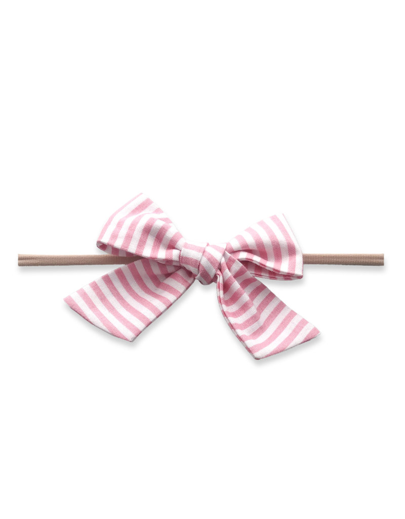 Big Cotton Bow Skinny Bubblegum Stripe