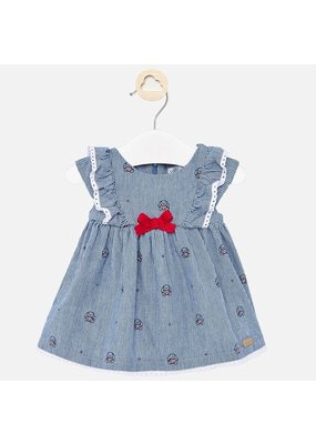Mayoral Denim Dress with Bow
