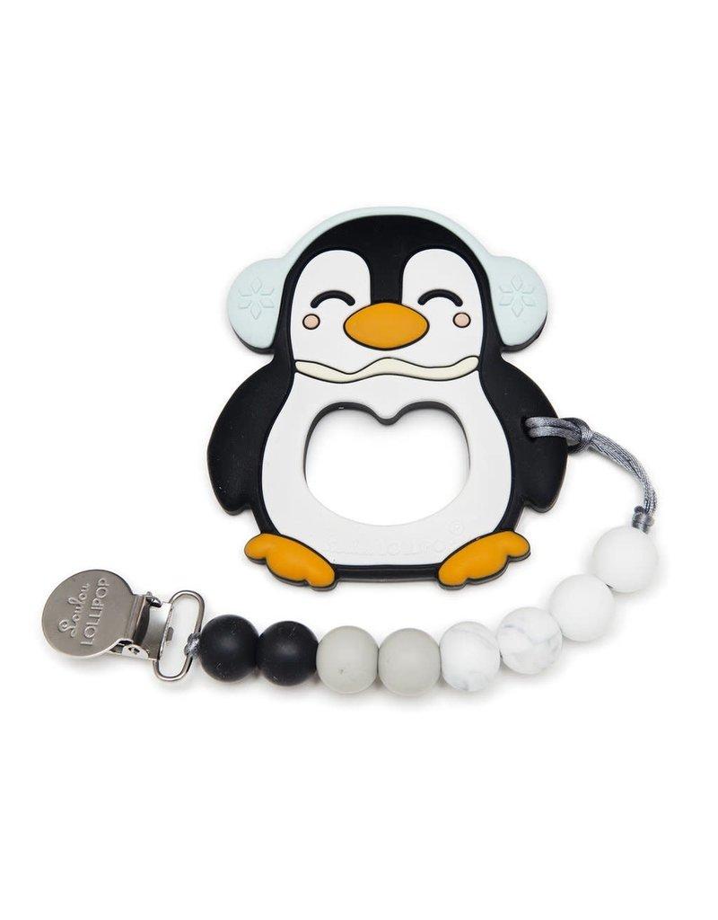 Black Penguin Silicone Teething Set
