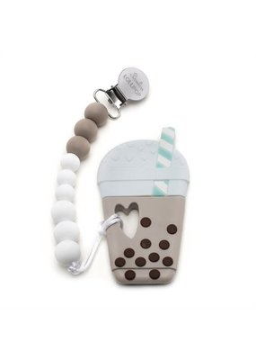 LouLou Lollipop Taro Bubble Tea Silicone Teething Set