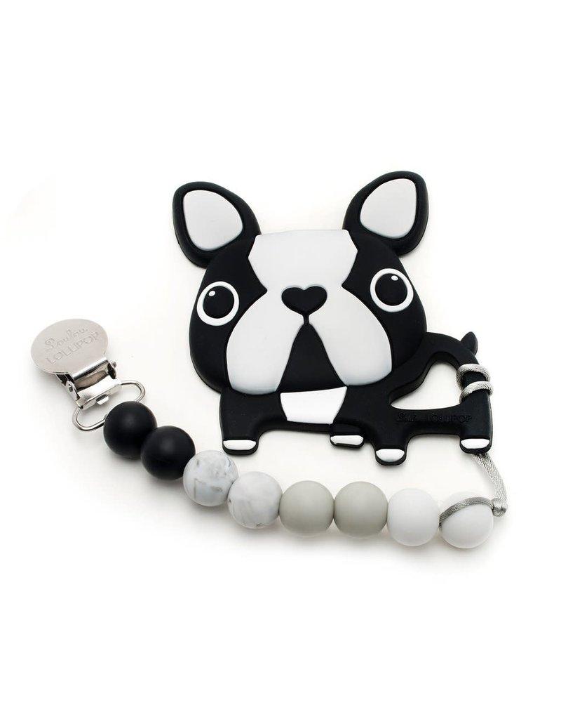 LouLou Lollipop Boston Terrier Silicone Teething Set