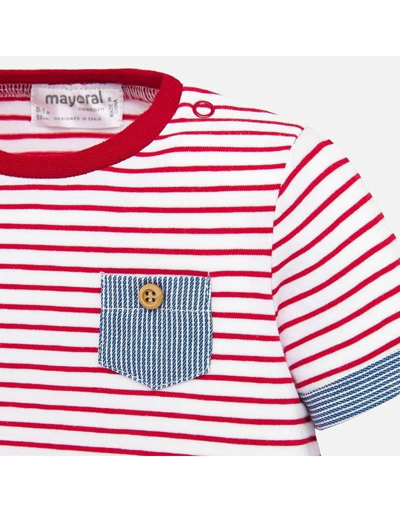 Red Stripe Shirt & Blue Stripe Short