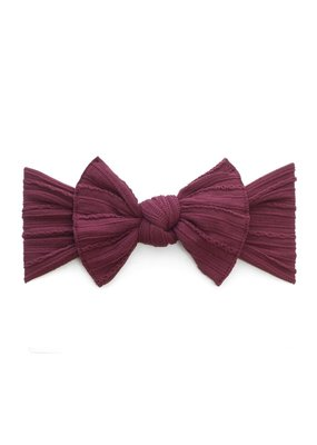 Cable Knit Knot Burgundy