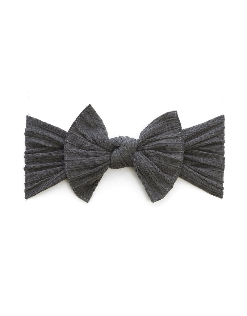 Baby Bling Cable Knit Knot Charcoal