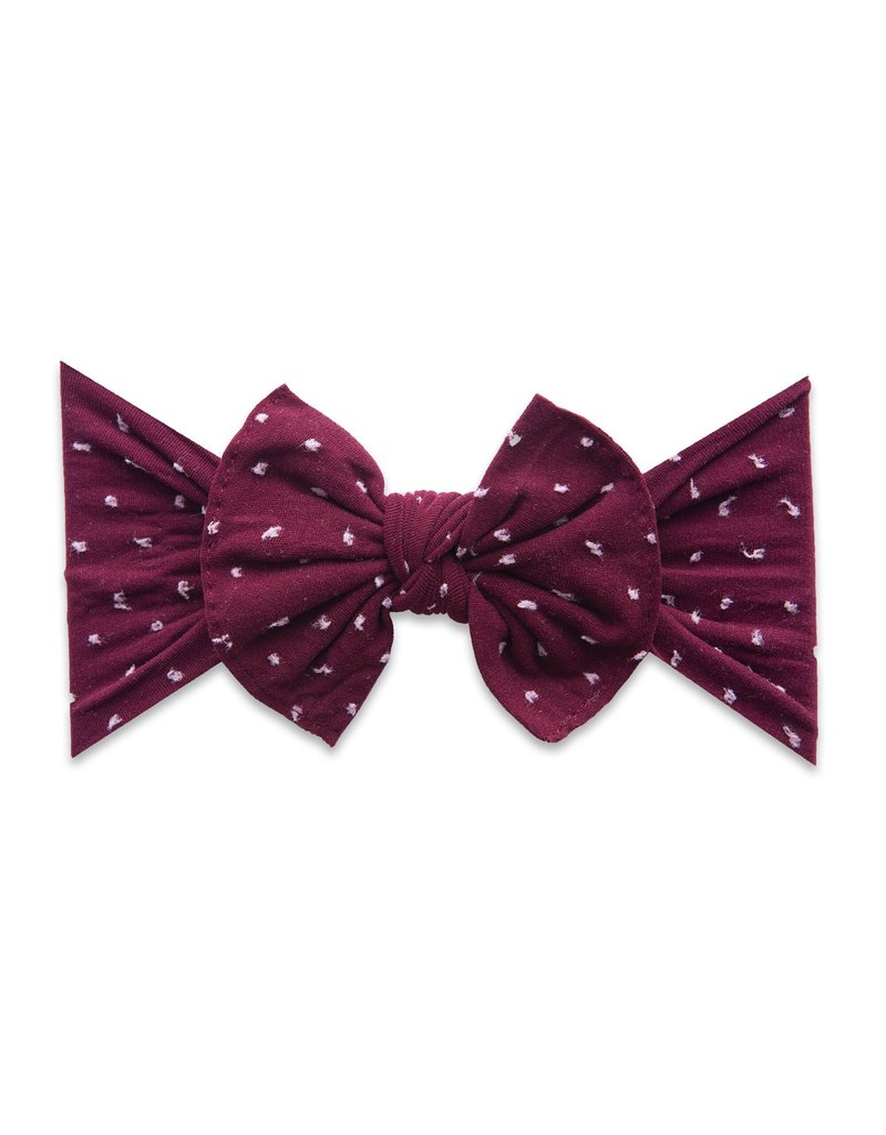 Patterned Knot Burgundy Shabby Dot