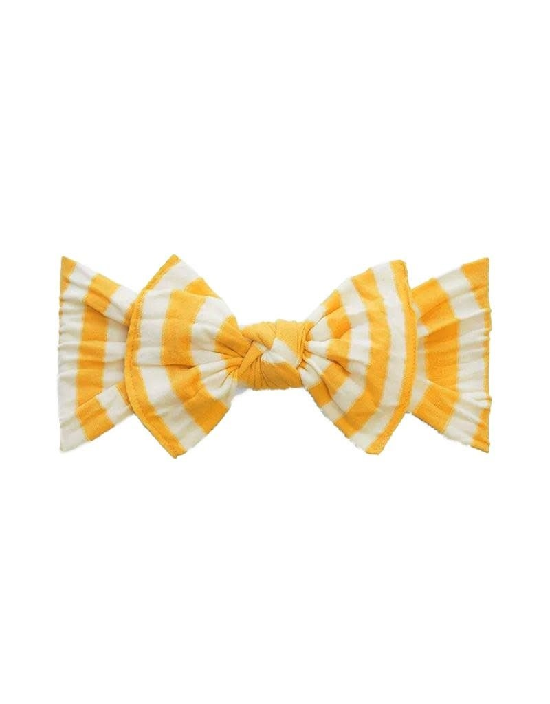 Patterned Knot Mustard Stripe
