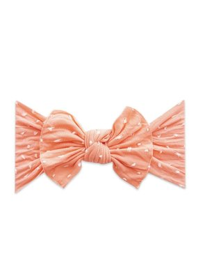 Baby Bling Patterned Knot Shabby Coral Dot