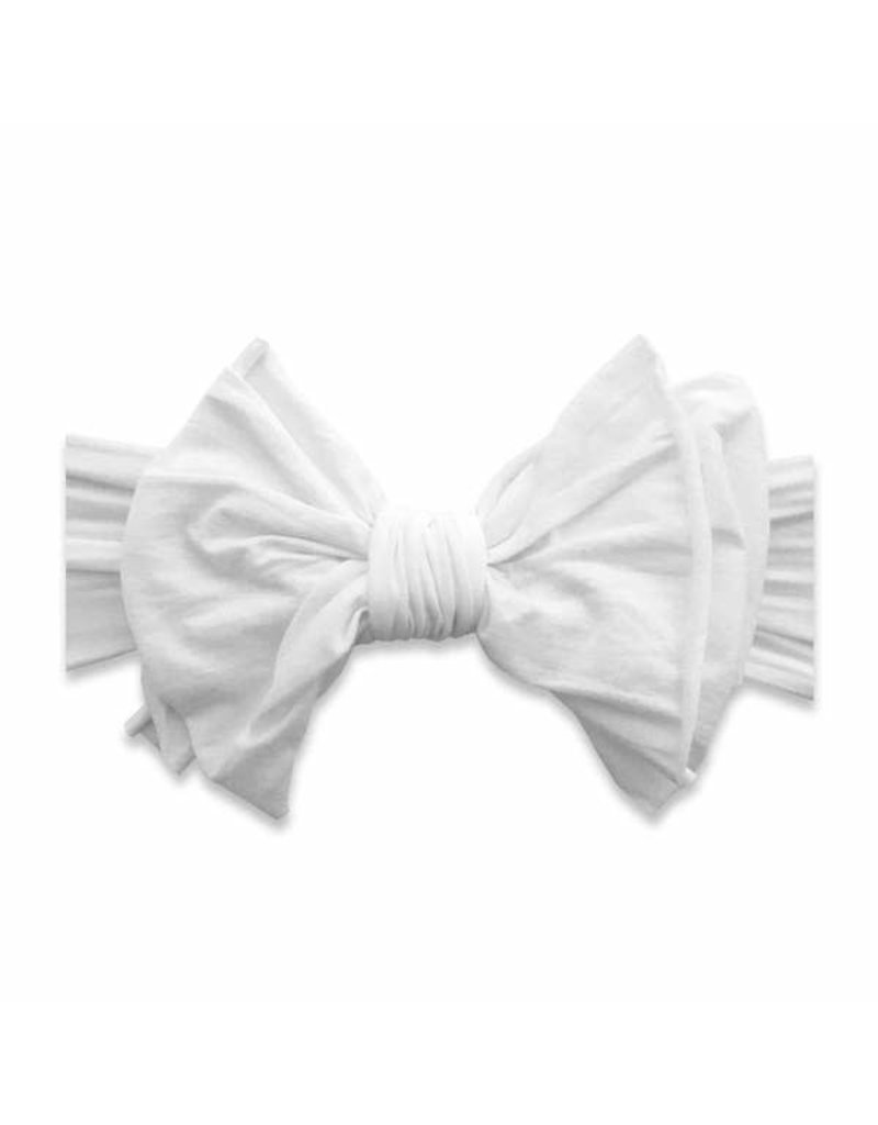 Baby Bling Big and Beautiful Bow  White