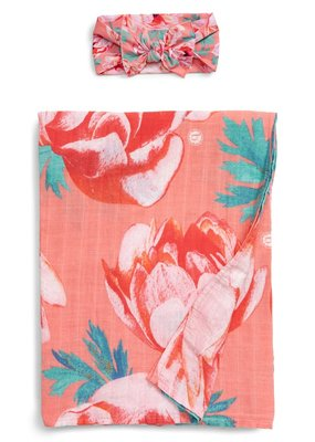 Baby Bling Swaddle Set Pink Coral