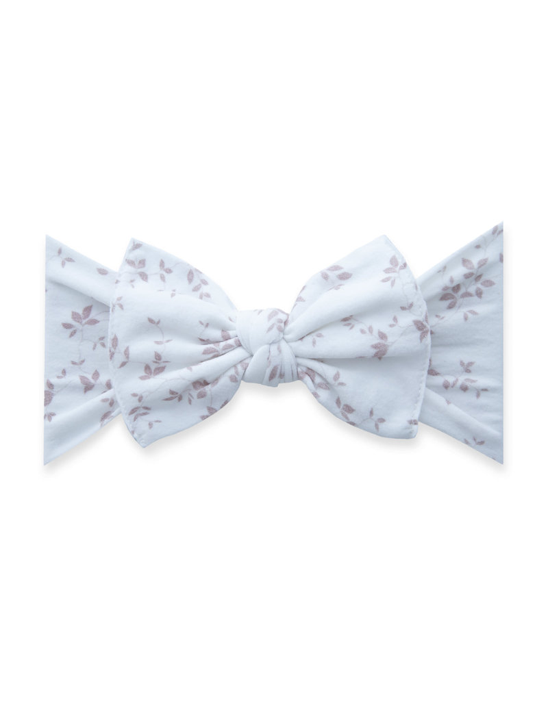 Baby Bling Printed Knot Pink Vine