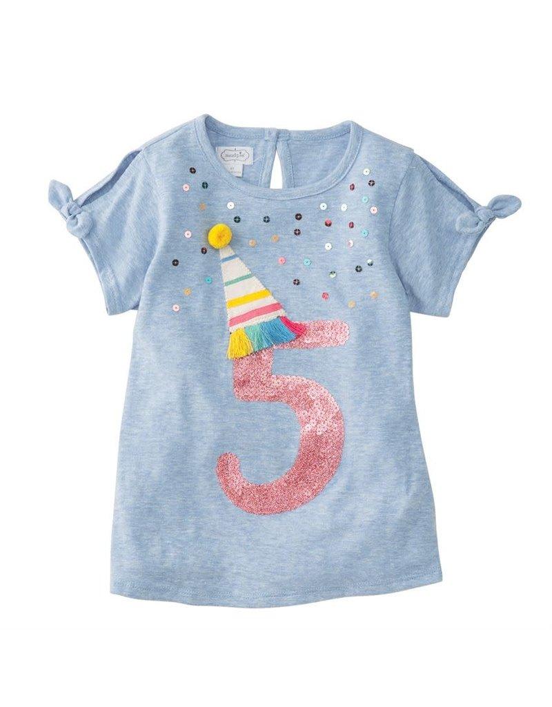 MudPie Five Birthday Tee