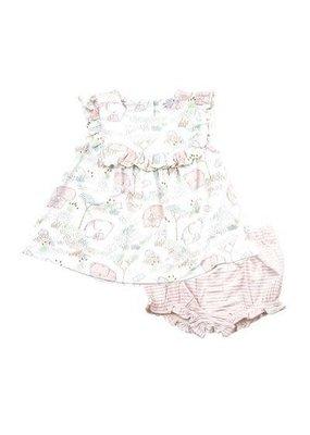 Angel Dear Pink Elephant Ruffle Top & Bloomer