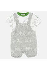 Mayoral Gray Romper with Shirt