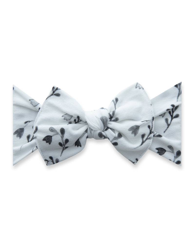 Baby Bling Printed Knot Black Tulips