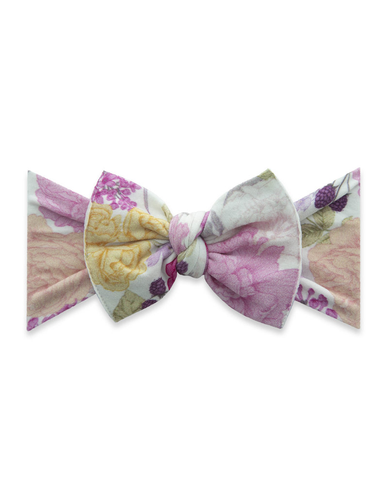 Baby Bling Printed Knot Raspberry Rose