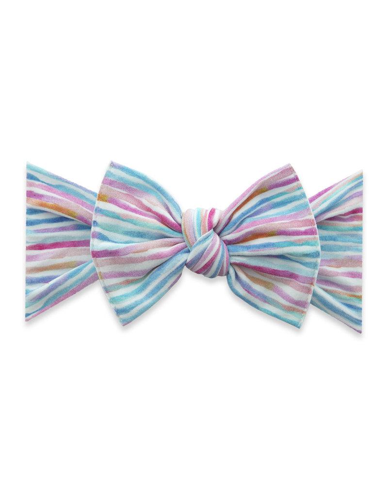 Baby Bling Printed Knot Pastel Stripe