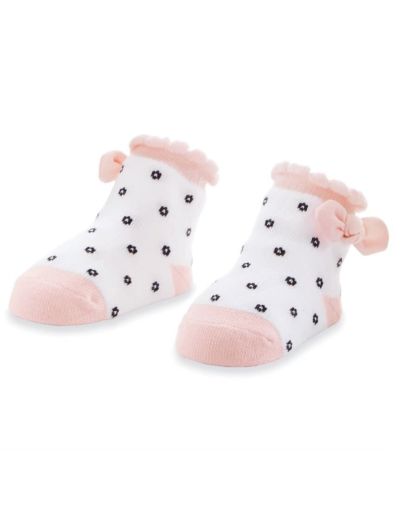 MudPie Black Flower Dot Socks