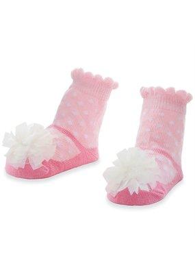 MudPie Polka Dot Pom Socks