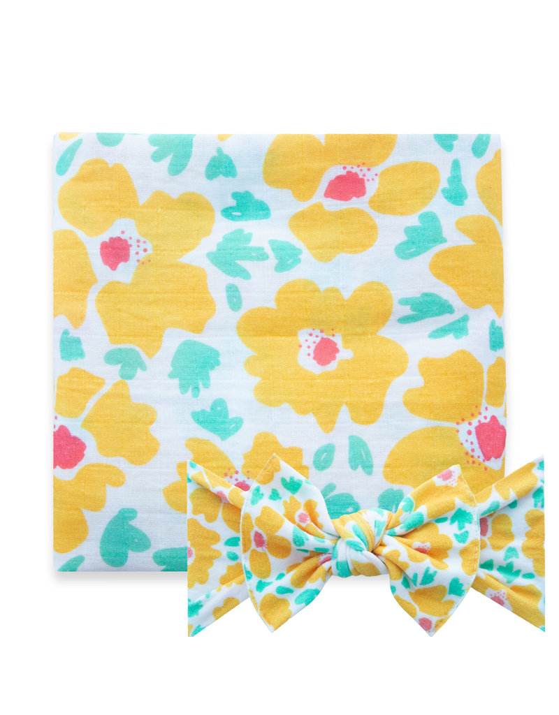 Swaddle Set Abstract Poppy
