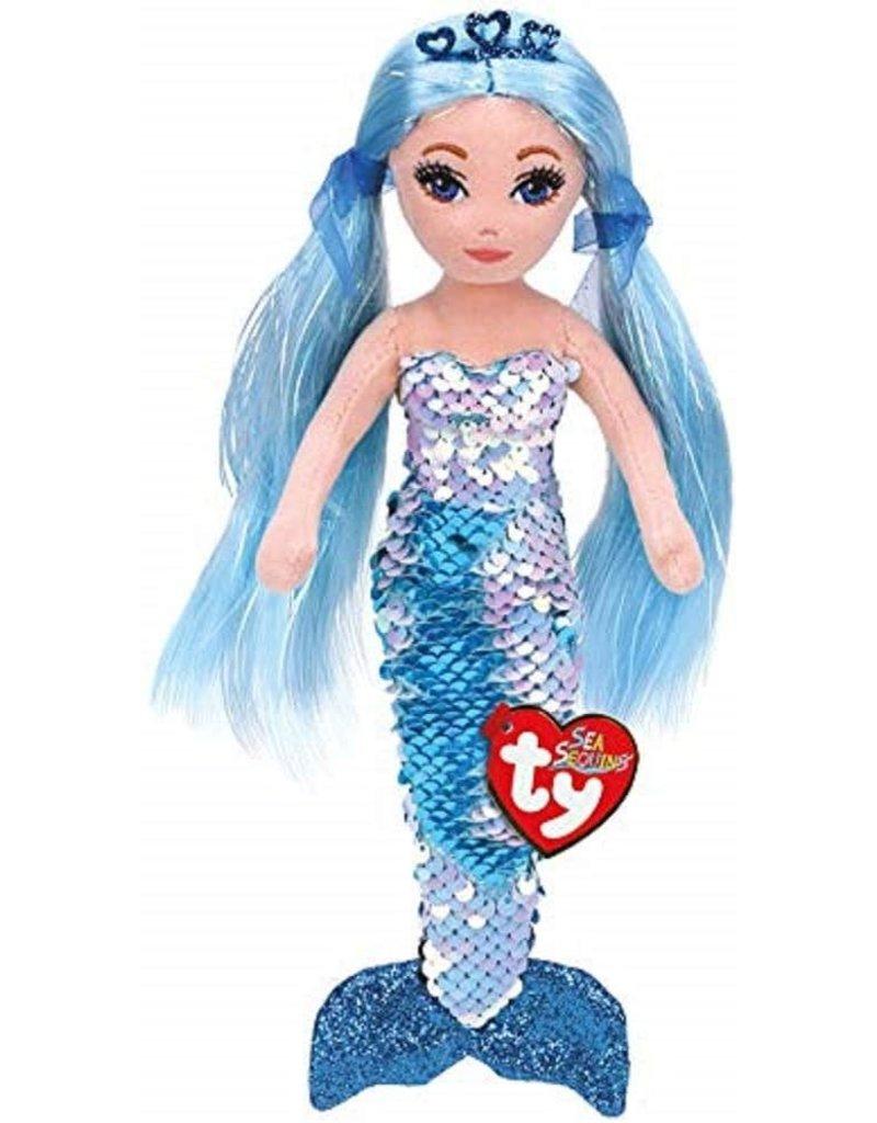 Ty Sea Sequins Flippable Mermaids  Small Indigo
