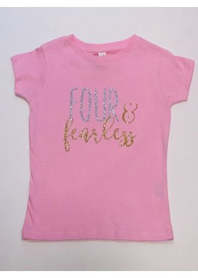 Tracy's Treasures Four & Fearless Birthday Shirt