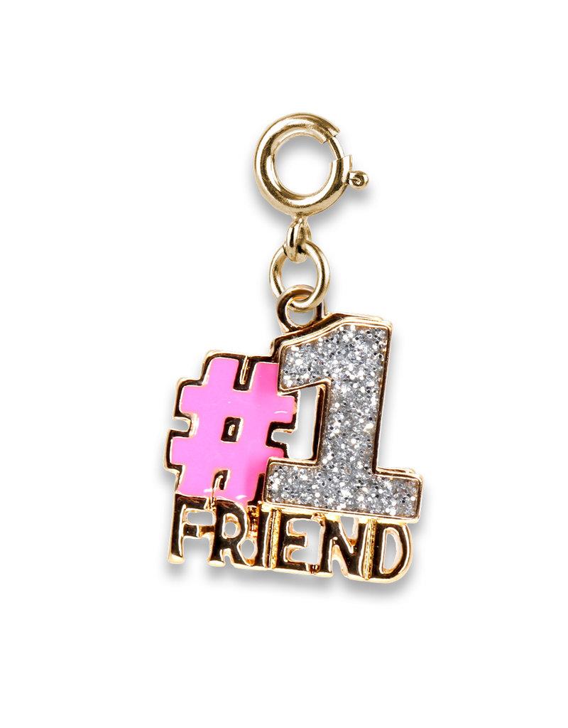 CHARM IT! Gold Glitter #1 Friend Charm
