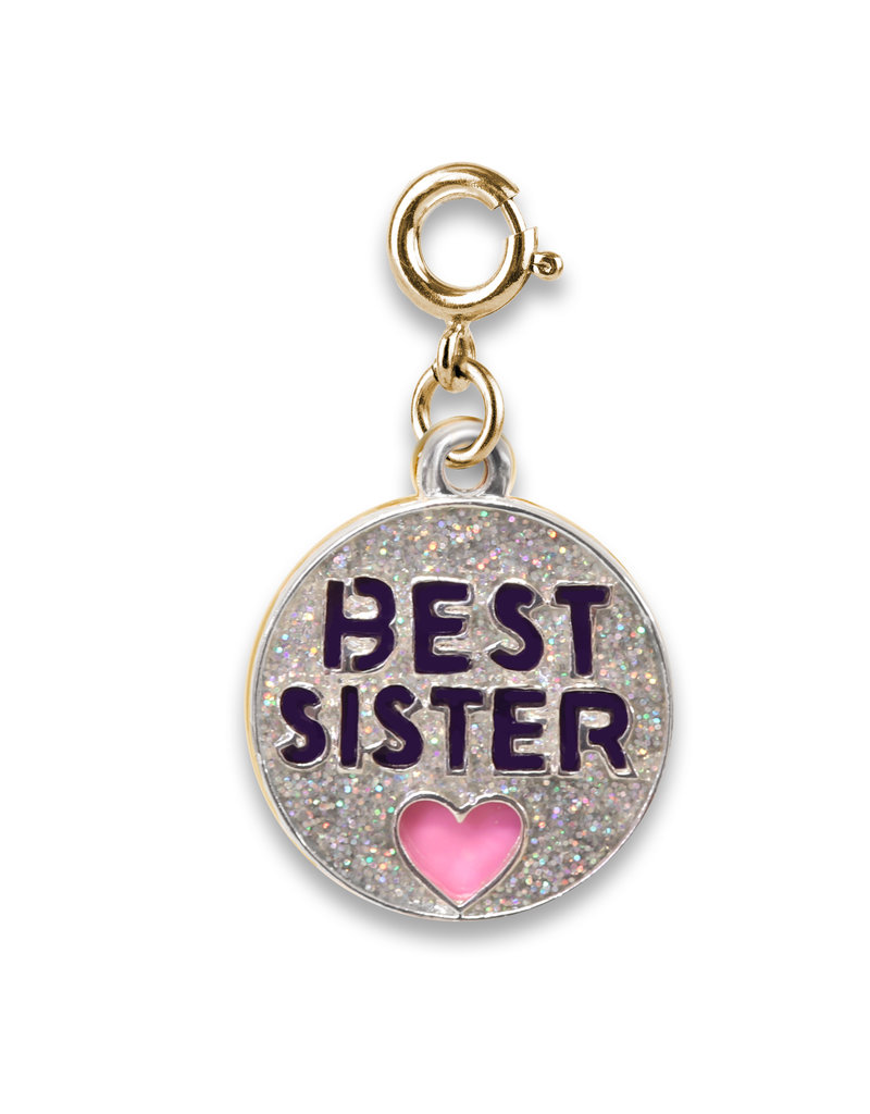 High Intencity Corporation CHARM IT! CHARM IT! Gold Glitter Best Sister Charm
