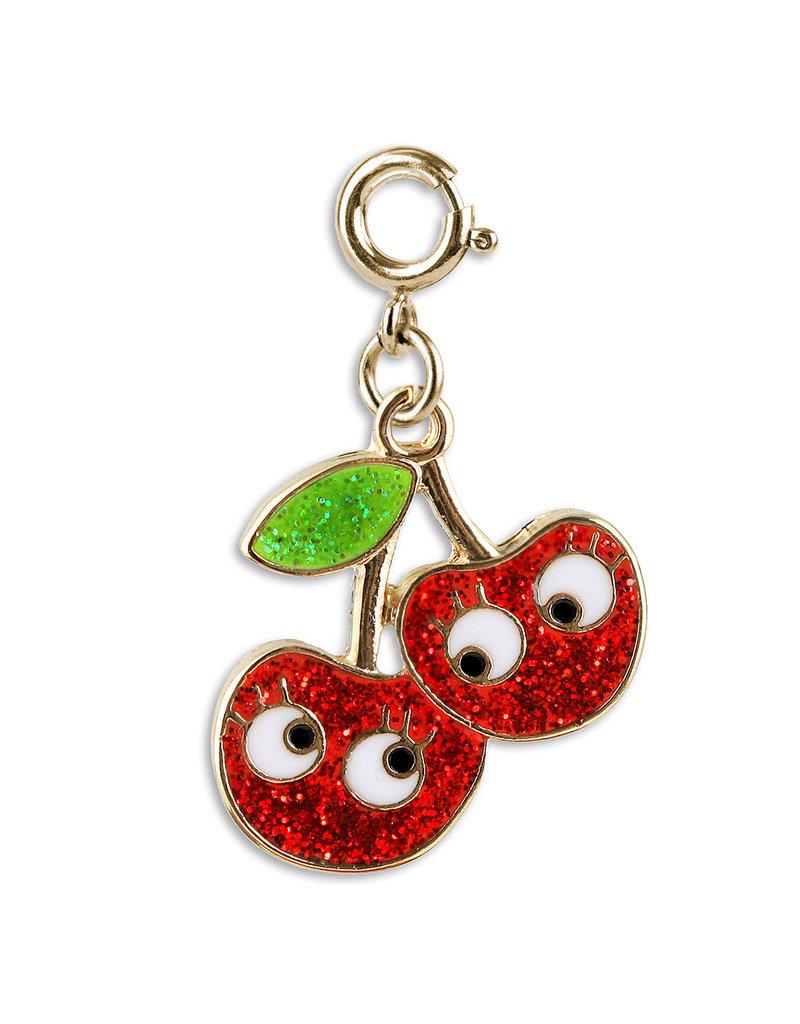 CHARM IT! Gold Glitter Cherry Friends Charm