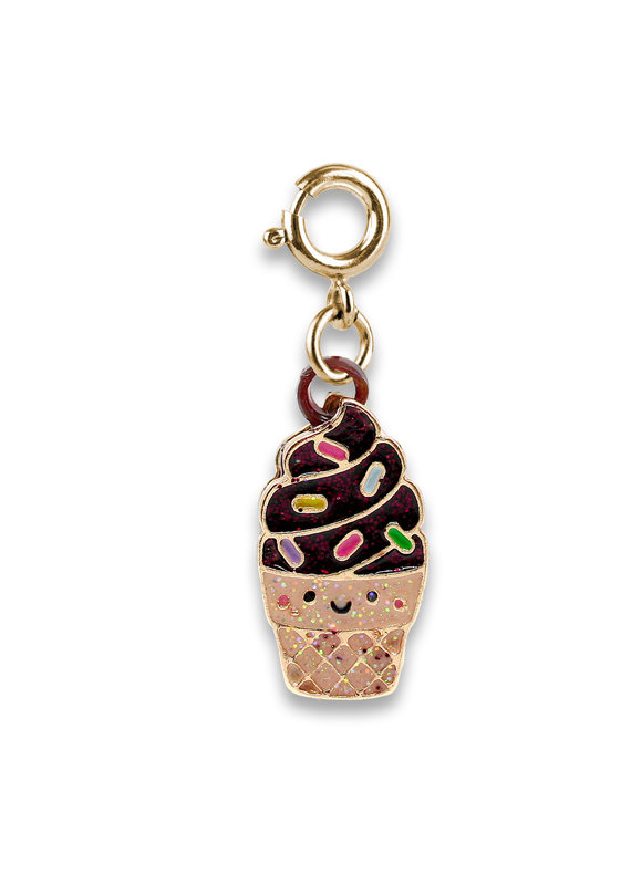 CHARM IT! Gold Scented Chocolate Soft Serve Charm